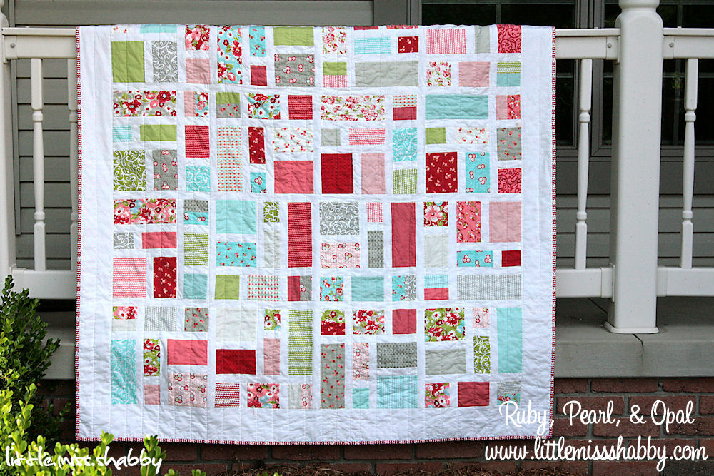 Ruby, Pearl, & Opal Quilt
