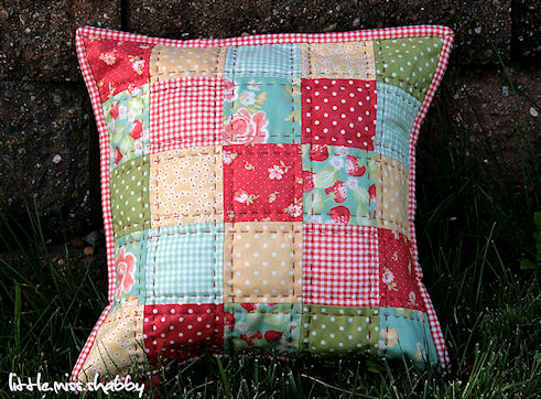 Quilted Pillowcase Patterns Free: That Red Quilted Pillow–A Free Tutorial – Coriander Quilts,