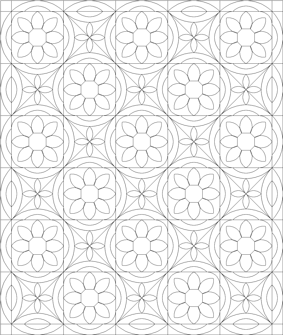 today - Quilt Block Coloring Pages
