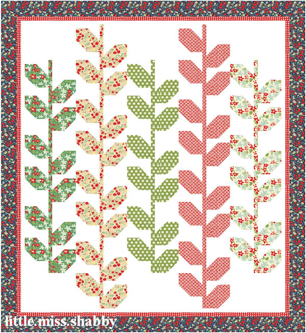Stems Quilt Pattern Fig Tree : Quilty Stitches Block 10 Coriander Quilts