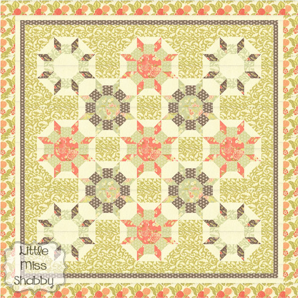 Sunstruck Quilt Pattern by Corey Yoder (Little Miss Shabby)