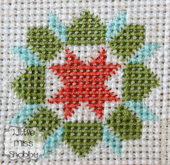 Quilty Stitches Block #1