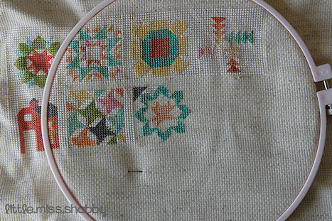 Quilty Stitches Block 7