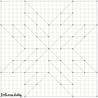 Quilty Stitches Block 14 Diagram
