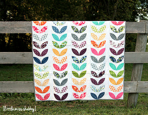 Playful petals coriander quilts for Rainbow petals