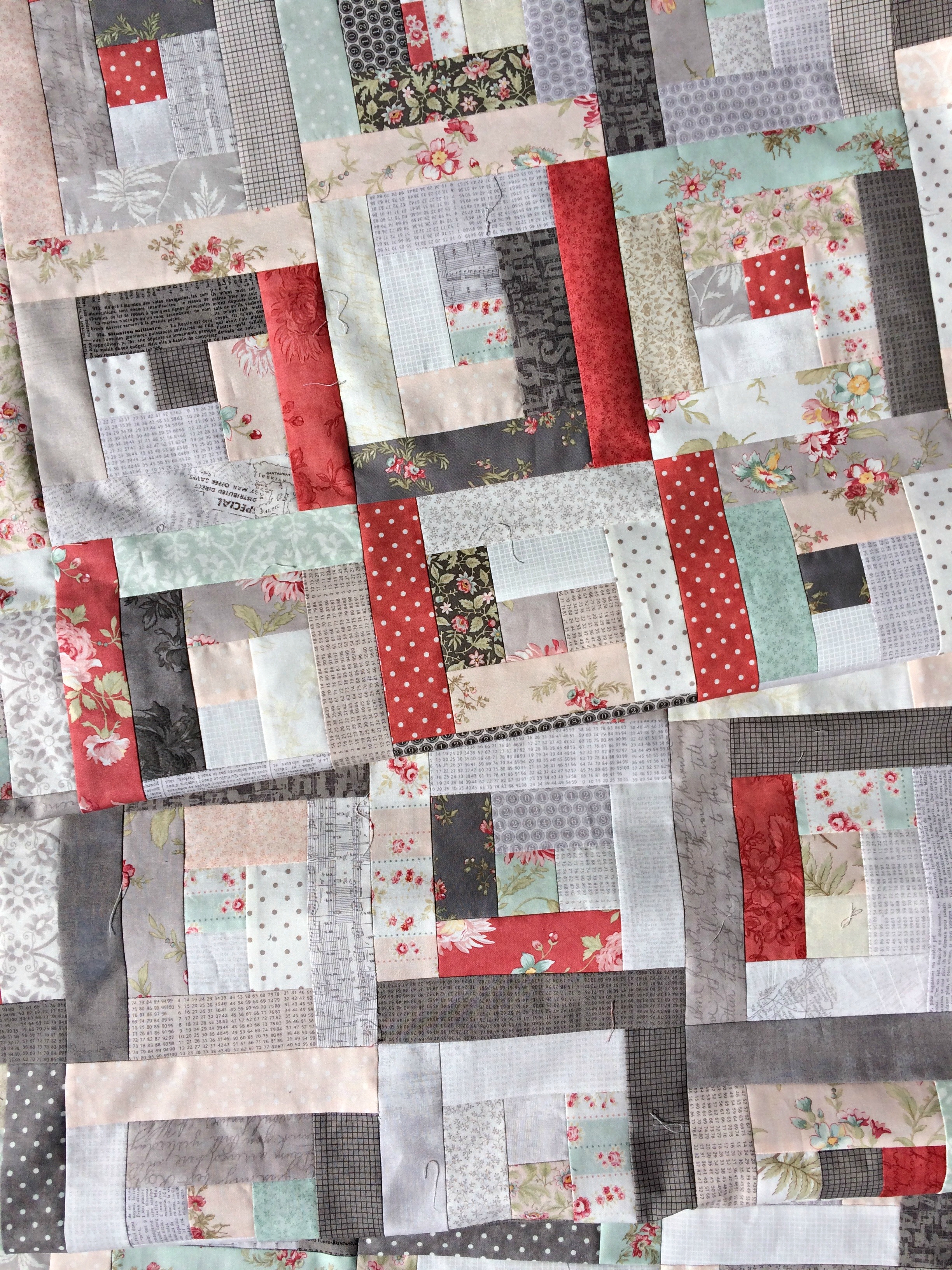 Contrasting Cabins Quilt Pattern Pieced LA