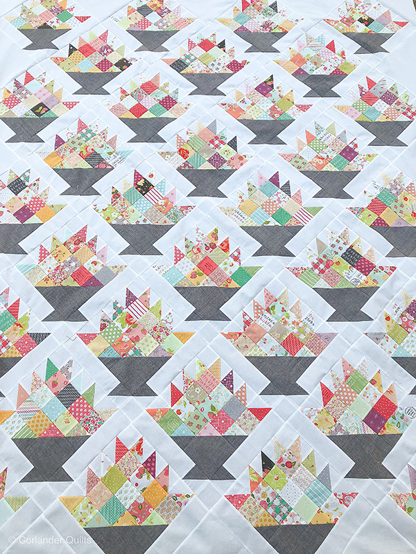 Happy Scrappy Baskets Quilt {a new quilt pattern}
